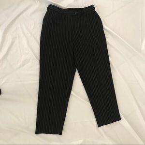 Norm Thompson Pinstriped Pants 12 Petite Beautiful